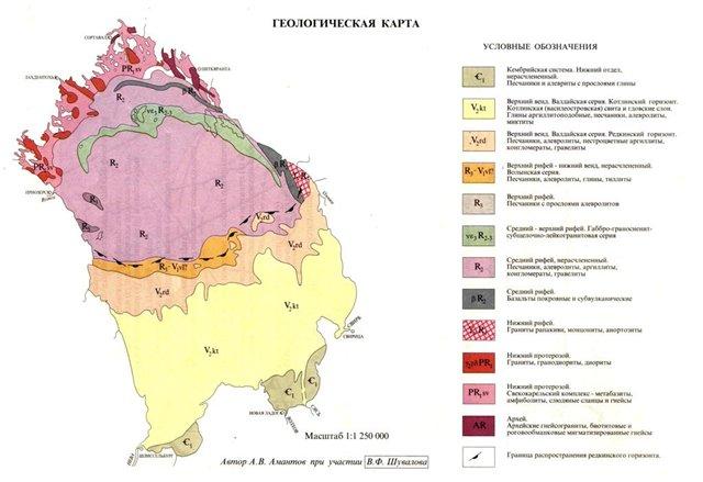 Геологическая карта Амантова А.В.